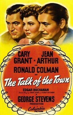 THE TALK OF THE TOWN MOVIE POSTER Cary Grant VINTAGE 1