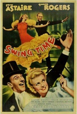 SWING TIME MOVIE POSTER Fred astaire RARE HOT VINTAGE 1