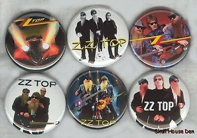 ZZ TOP 6 new Buttons/Magnets