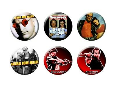 NATURAL BORN KILLERS 6 New Buttons/Magnets