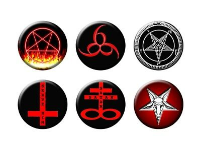 SATAN RULES 6 new Buttons/Magnets