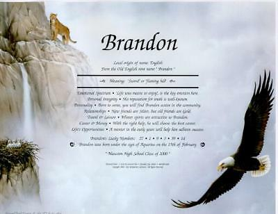 * Eagle Nest Personalized Name Meaning Print