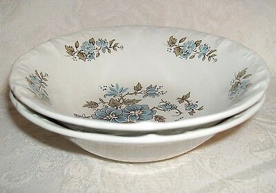 Sears Staffordshire BLOSSOMTIME Soup Cereal Bowl Set 2