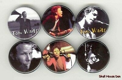 TOM WAITS 6 new Buttons/Magnets