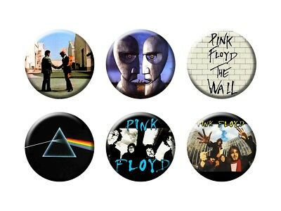 PINK FLOYD 6 new Buttons/Magnets