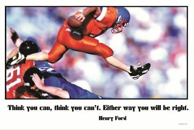 Think you can - Football Sports Motivational NEW POSTER