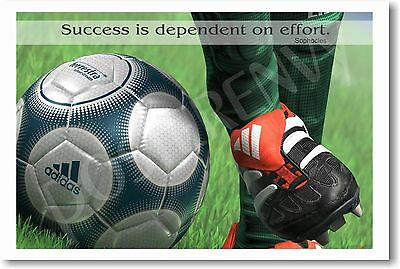 Success is dependent - Soccer Motivational   NEW POSTER
