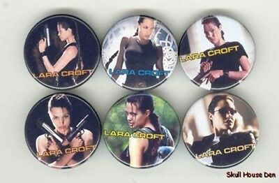 TOMB RAIDER Angelina Jolie 6 New Buttons/Magnets