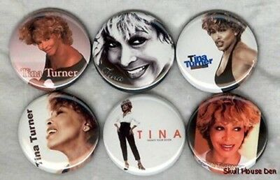 TINA TURNER 6 new Buttons/Magnets