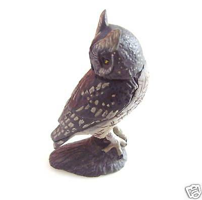 RARE Kaiyodo ChocoQ Animatales Series 8 Black Screech Owl Bird Figure