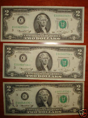 2013 2$ ✯STAR NOTES✯ Two Dollar Bills Sequential UNC RUN 1,200.00 Lucky 333