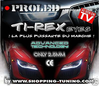 2 BANDEAU Ti-REX TUNING LED XENON 50CM PHARE FEUX JOUR