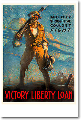 And they thought we couldn/'t fight World War 1 Giclee Art Poster Repro 16x24