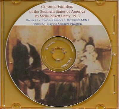Colonial Families of the South - Life Before the Rev.