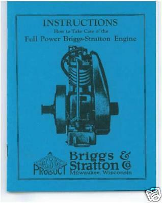 Briggs & Stratton  Models  F,fb, & Fc Book (Blue)