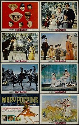 MARY POPPINS MOVIE LOBBY CARDS POSTER Julie Andrews
