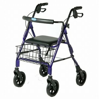 Invacare 4 Four Wheel Rollator Walker with Padded Seat