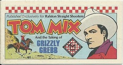 Tom Mix The Taking Of Grizzly Grebb Rare Mini Giveaway Promo Ralston Purina Nm