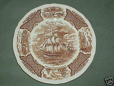 """Alfred Meakin England FAIR WINDS Plates 10 1/2"""" Set of 4 FREE SHIPPING"""