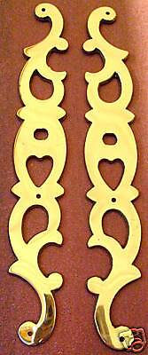 "POLISHED Brass Backplate SET Heart Shaped 6.75"" $10 SET"