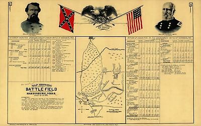 24x36 Vintage Civil War Parole Camp Annapolis MD map 1864