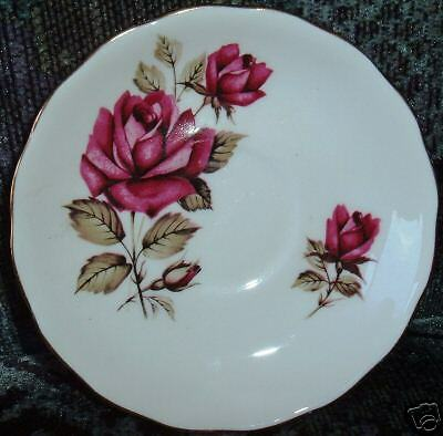Queen Anne Bone China Saucer, with Beautiful Roses