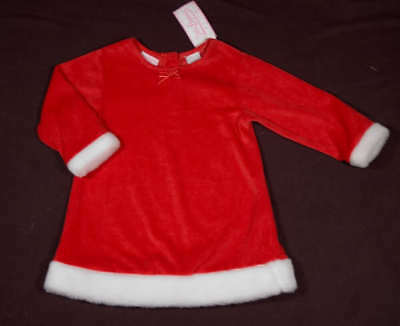Little Legends Girls Size 24M Dress Nwt Red Santa Christmas Holiday Faux Fur New