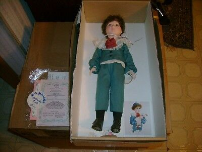 "1986 Effanbee Jan Hagara LARRY 17"" Doll w Original Box"