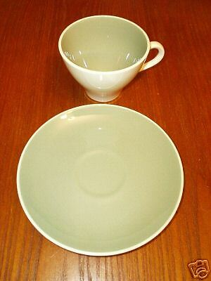 Harkerware Ivy Green Cups and Saucers 3 Sets FREE SHIPPING L@@K NICE