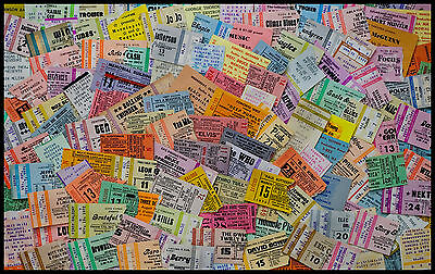 Vintage Tickets Stubs Fine Art Poster 100+ Artists DYLAN ELVIS ELTON ROXY TULL