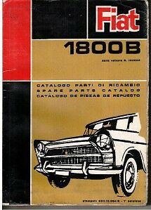 Fiat 1800B Illustrated Parts Catalogue 1964 #603.10.004