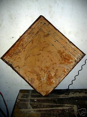 SHABBY Architectural Antique Old Tin Ceiling Tile