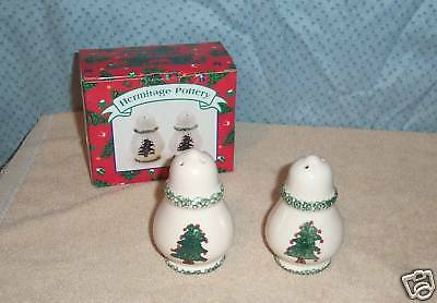 Hermitage Pottery Holliday S & P Limted Ed. 1996 Mib