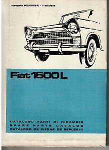 Fiat 1500L Illustrated Parts Catalogue 1964 #110,016