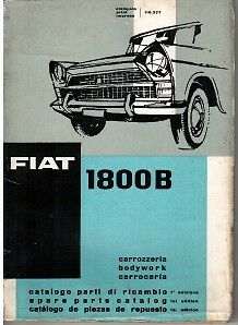 Fiat 1800B Illustrated Body Parts Book 1962 #110.377
