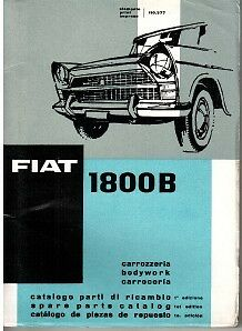 Fiat 1800B Illustrated Body Parts Book 1961 #110.377