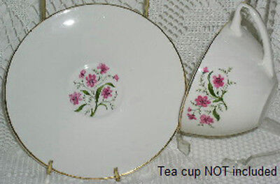 Knowles Spring Song Saucer Saucers Dishes Pink Flowers
