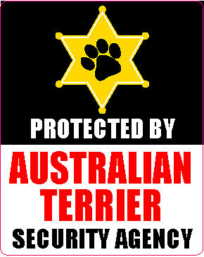 Protected By Australian Terrier Security Sticker