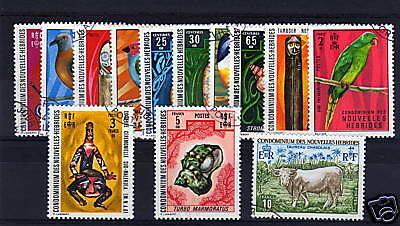 Fr.new Hebrides 1972 Set Sg F173-84/f213 Fine Used.
