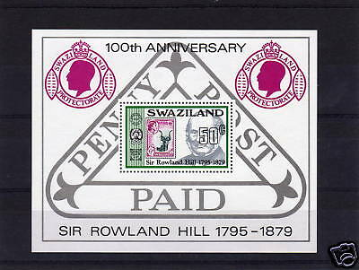 SWAZILAND 1979 R.HILL M/S CROWN TO RIGHT OF CA MS 326w.