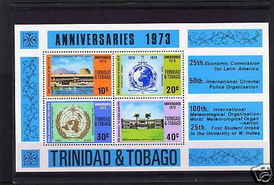 TRINIDAD 1973 EVENTS MS INVERTED WMK MS 439w MNH