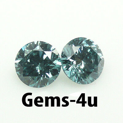 Lab Created Round Aqua Diamond 7Mm Fast & Free Delivery
