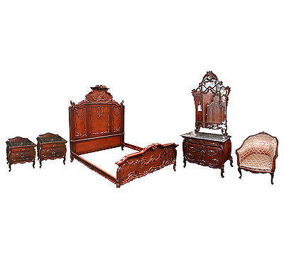 Antique French Bedroom Suite, with Cherubs #5042
