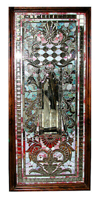 Stained Glass Window, Antique, Unusual Theme #5441