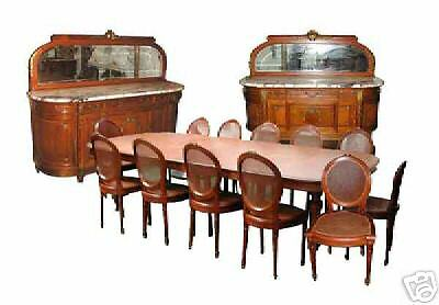 Fabulous 15-Pc. French Empire Dining Set c. 1885 #5140