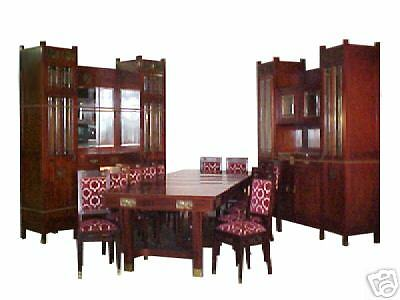 Art Deco Dining Suite, France 15-piece, 1900-1950 #5195