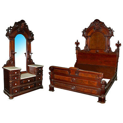 Renaissance Revival Bedroom Suite by Mitchell & Rammelsberg #5877