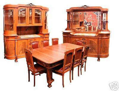 Wonderful 11-Pc. Mahogany & Walnut Empire Dining Suite c. 1920 #5109