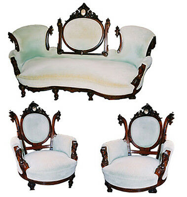 3 Piece Rosewood Parlour Set by John Jelliff #5845