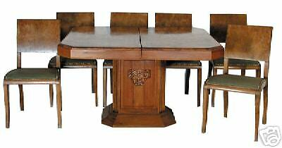 7 pc. Art Deco Dining Set c. 1925 #1163